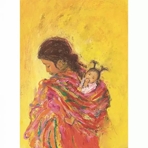 Marjan van Zeyl Postcards - Mayan Woman with Child