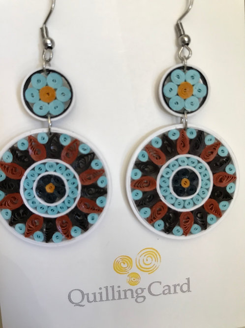 Quilling Card Earrings