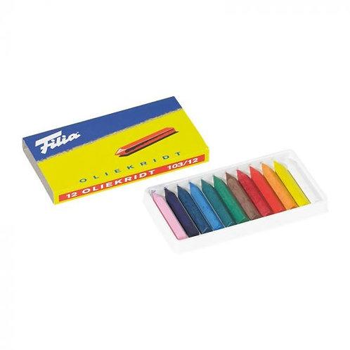 Filia Oil Crayons - 12 Assorted Colors