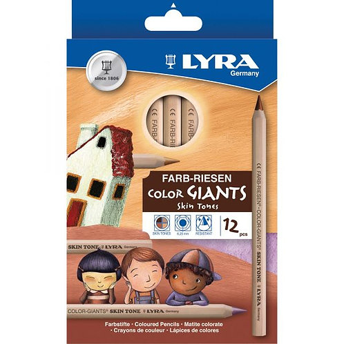 LYRA Color-Giants Colored Pencils, Unlacquered,