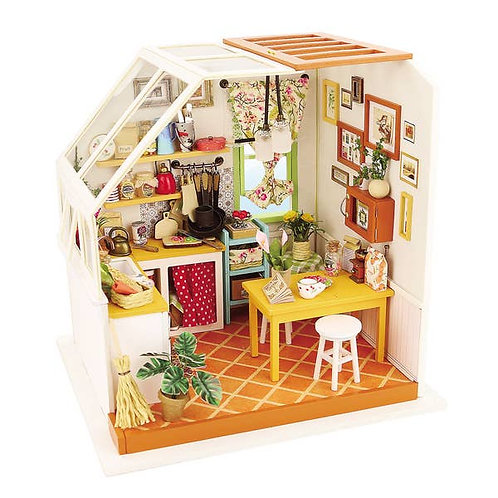 3D Wooden Puzzle Miniature House-Kitchen