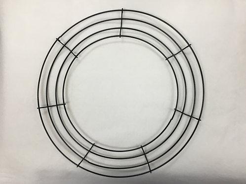 """14""""  Green Round Wired Wreath Frame"""