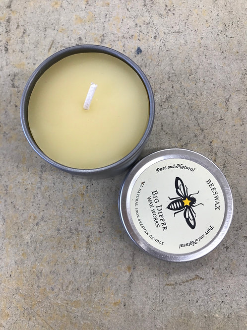 💯 Beeswax Candles in a Tin