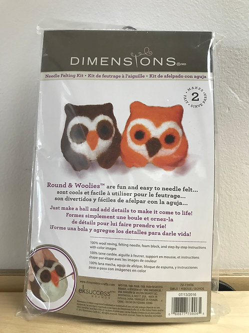 Owl Needle Felting Kit by Dimensions