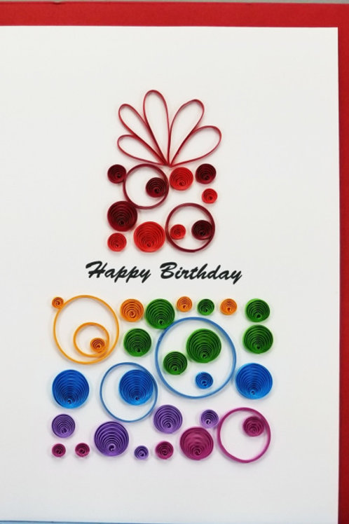 Happy Birthday Quilled Card