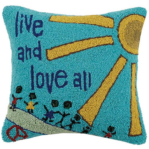 Live And Love All Hook Pillow
