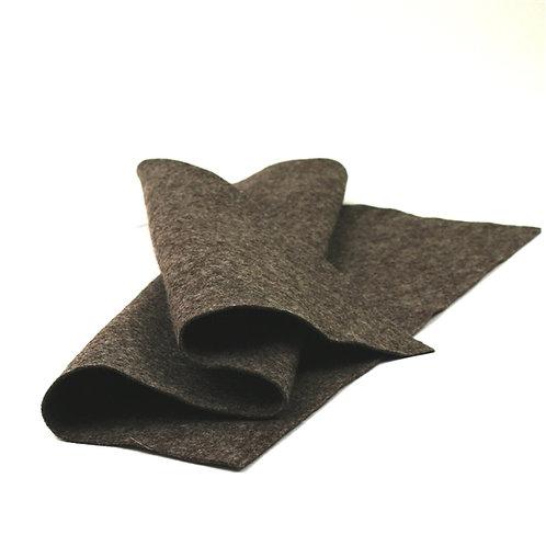 Heather Dark Brown Wool Sheet