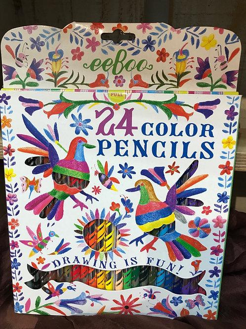 24 Color Pencils by eeBoo