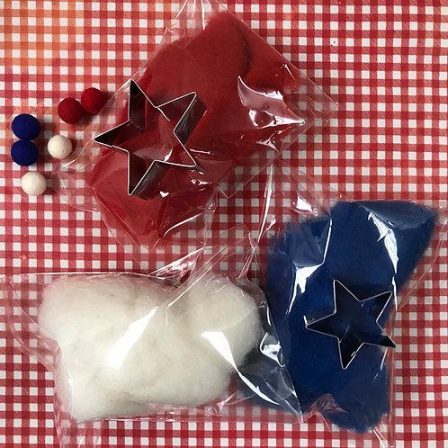 Fourth of July Garland  Needle Felting Kit