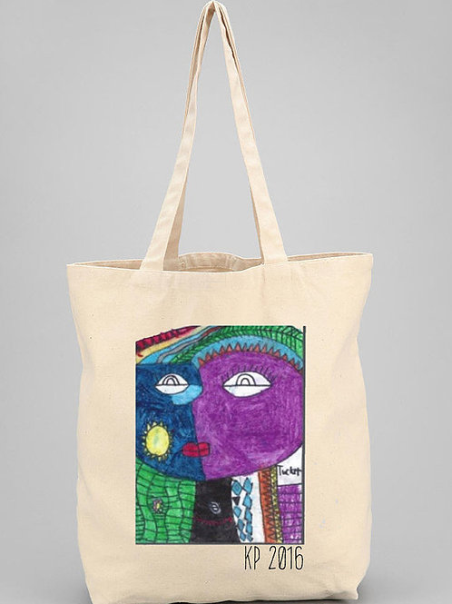 Artful Personalized Totes-Tote Size-14.5 x 18  with gussett