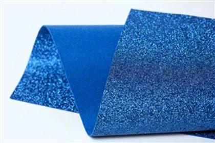Blue Glitter Felt