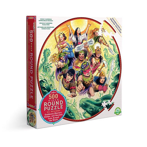 Goddesses and Warriors 500 Piece Round Puzzle