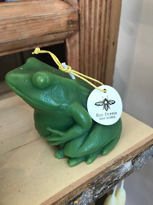 Beeswax Frog Candle by Big Dipper