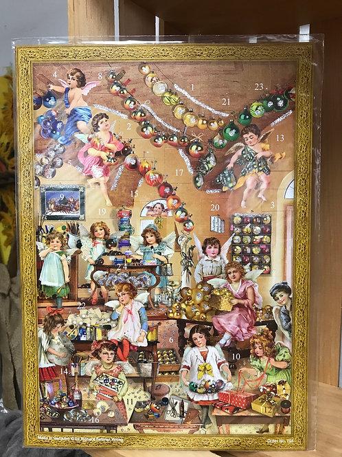 Angels Decorating Advent Calendar
