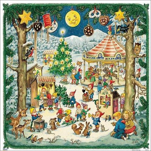 Christmas Elf Fair Paper Advent Calendar ~ Germany
