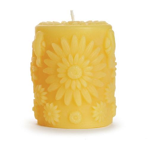 BeeswaxFloral Pillar