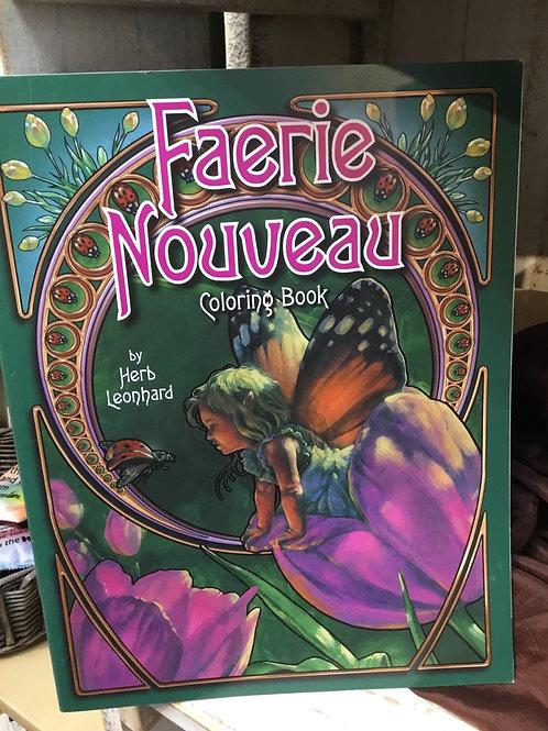Faerie Nouveau Coloring Book
