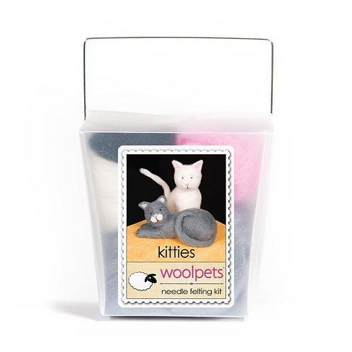 Woolpets Kitties Needle Felting Kit