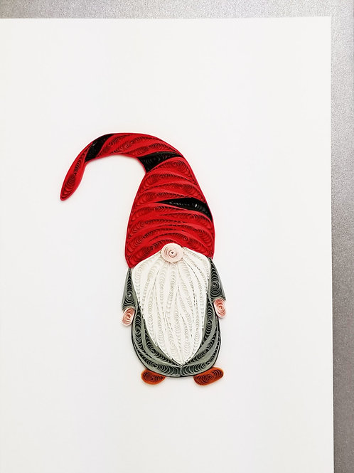 Gnome Quilled Card