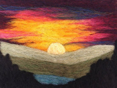 Felted Sky-Mountain Sunset Needle Felting Kit