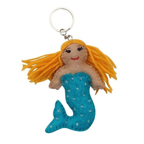 Mermaid Felt Key Chain