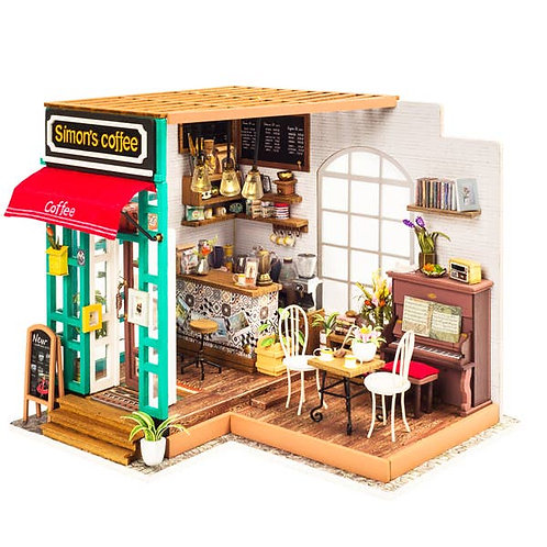 DIY3D Puzzle/ Miniature Coffee Shop