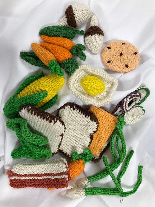 Hand Knit Play Food Set