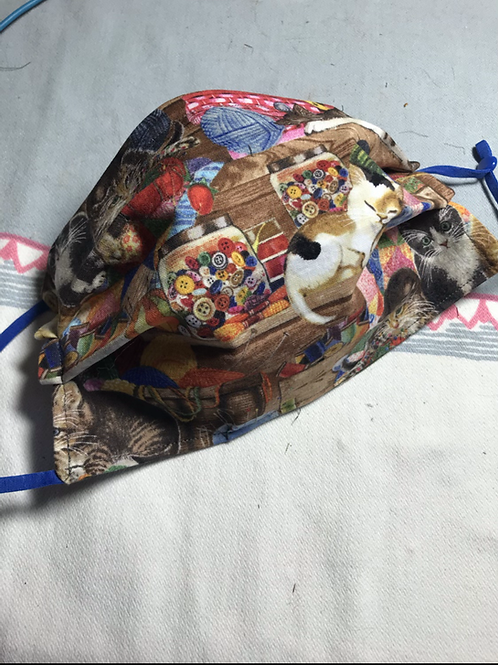 Crafty Cat Reversible Face Mask