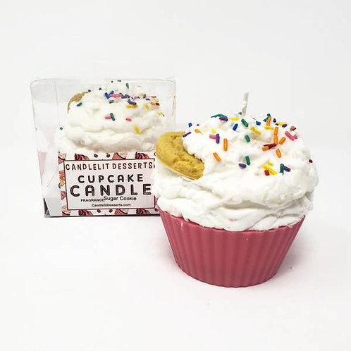 Jumbo Cupcake Candle - Sugar Cookie