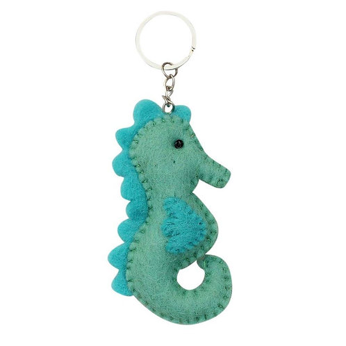 Seahorse Felt Key Chain