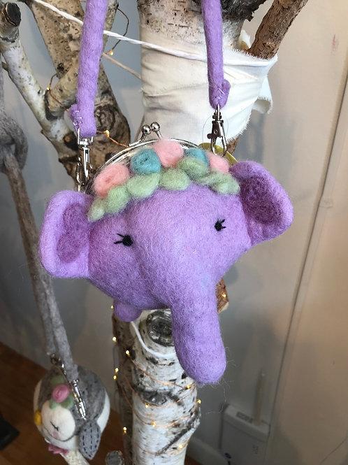 Fair Trade Felt Elephant mini tote