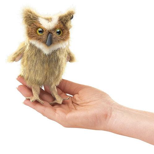 Mini Owl, Great Horned Finger Puppet