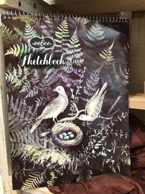 Doves in Fern Sketchbook