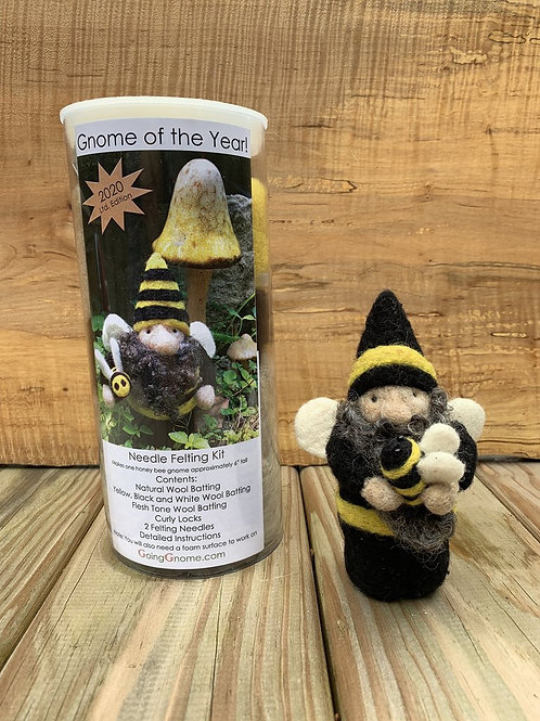 Needle Felt a Bee Gnome