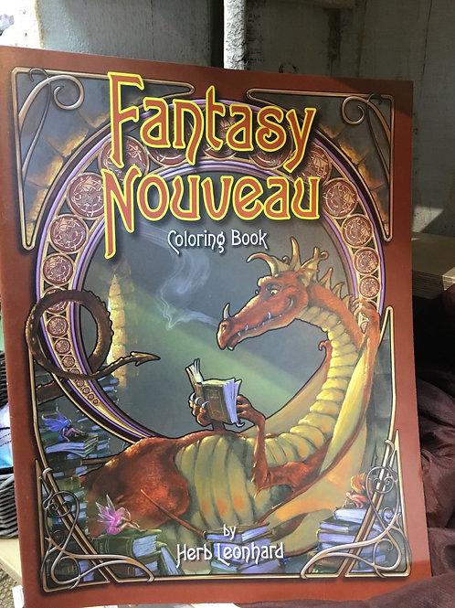 Fantasy Nouveau Coloring Book