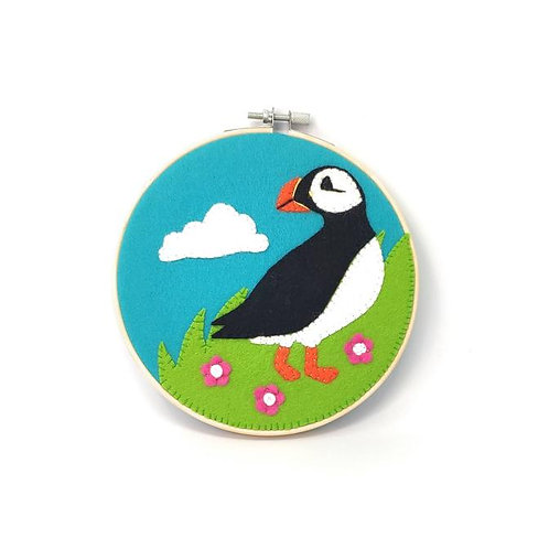 Scottish Puffin Felt Appliqué Kit