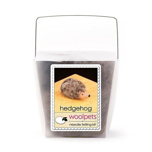 Woolpets- Hedgehog Needle Felting Kit