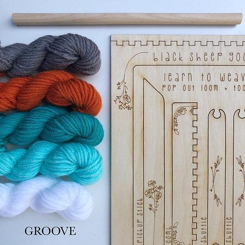 DIY Tapestry Weaving Kit-Groove