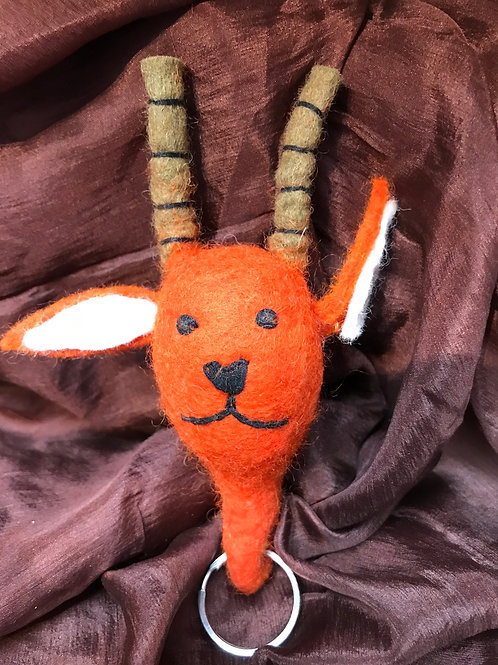 Deer Felted Key Chain