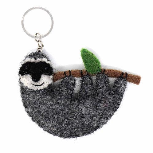 Sloth Felt Key Chain