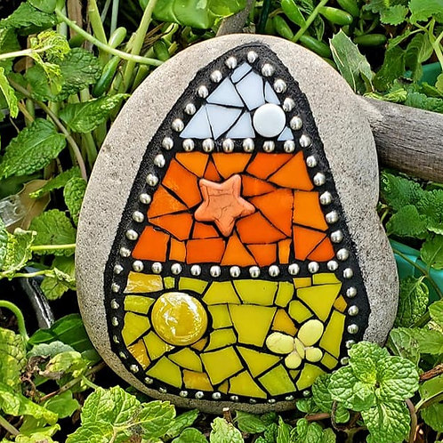 Candy Corn by Madhouse Mosaics