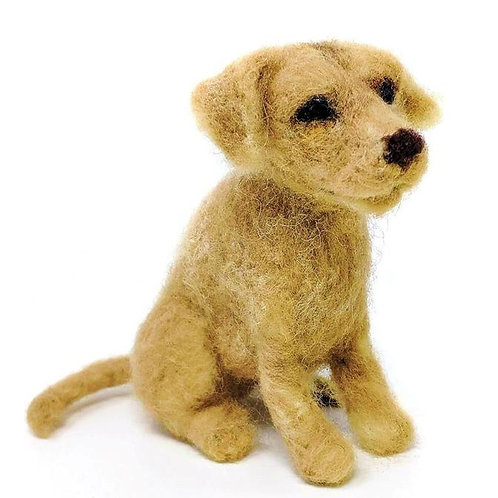 Dinky Dogs Yellow Labrador Needle Felting Kit
