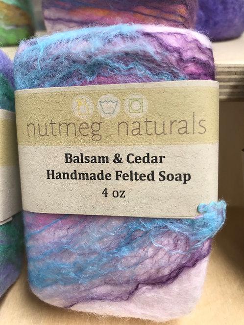 Balsam & Cedar Felted Soap
