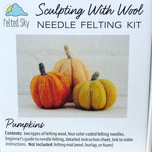 Pumpkin Felting Kit by Felted Sky
