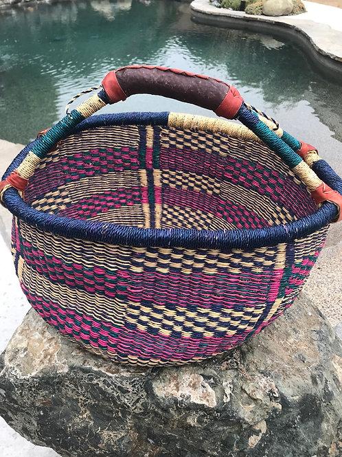 Bolga Market Basket, Extra Large - Mixed Colors