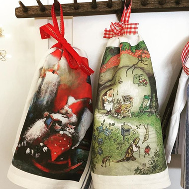Whimsical tea towels have just arrived.j
