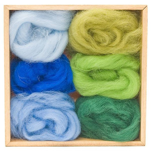 FORREST & SKY Wool Roving Set 6pk