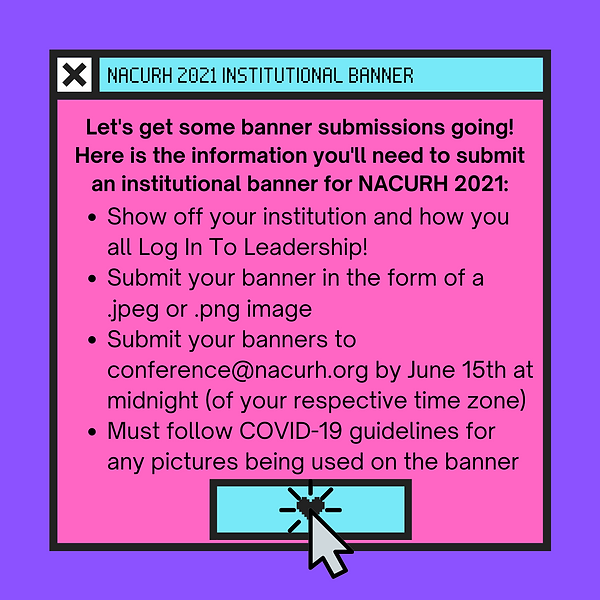 NACURH 2021 institutional Banner - corre