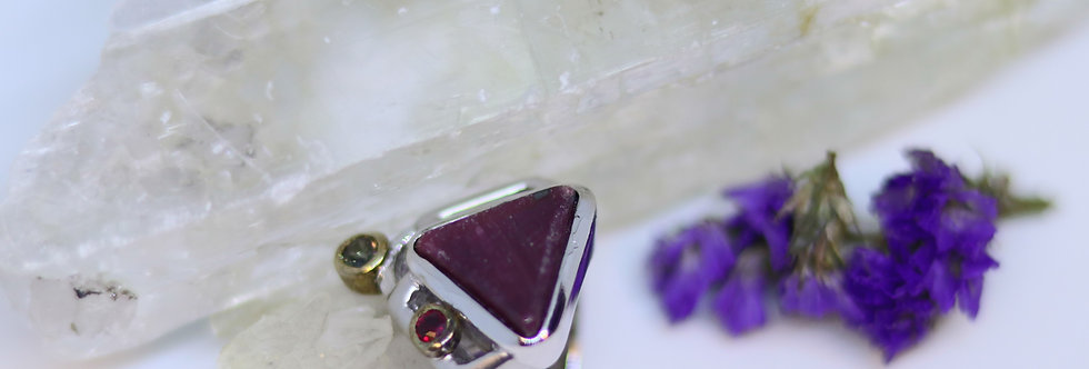Africian Ruby+Sapphire Ring