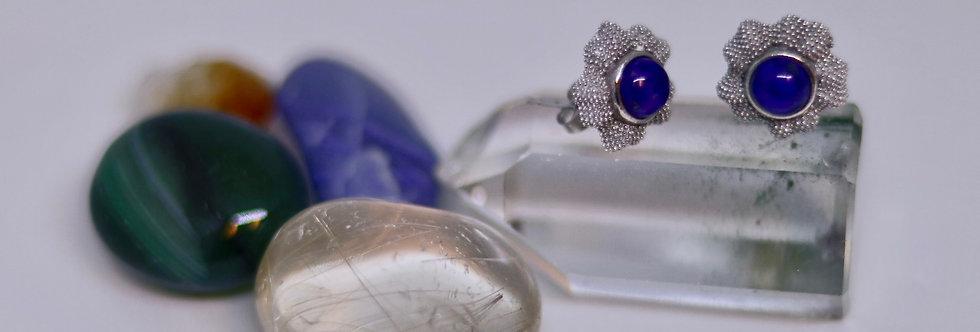 Lapis Lazuli Ear Ring (flower)